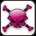 Skull & Bones pink doo-dad logo