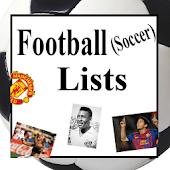 Football Lists (Soccer)