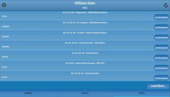 Affiliate Stats - screenshot thumbnail