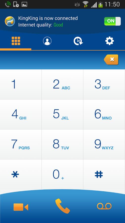 KingKing voice roaming service - screenshot