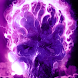 Purple Glowing Hellfire Skull