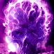 Purple Glowing Hellfire Skull