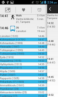 Bussit Tampere Reittiopas - screenshot thumbnail