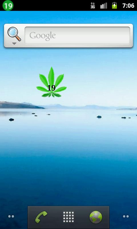 Marijuana Battery Widget- screenshot