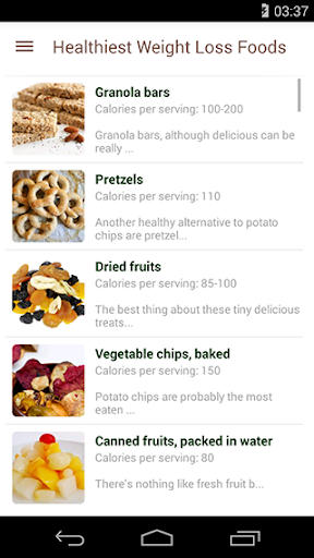 Healthiest Weight Loss Foods