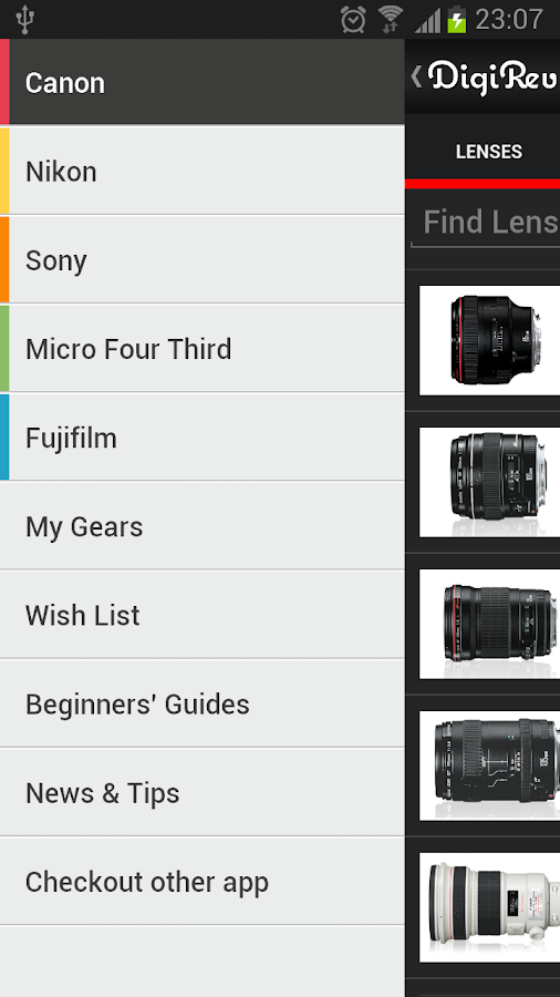 Digi-Review - Cameras & Lenses - screenshot