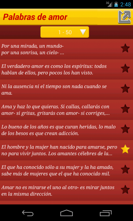 Palabras de amor - screenshot