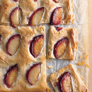 Sugared Pluots on Crisp Anise-Scented Phyllo.