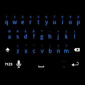 Solid Blue Keyboard Skin