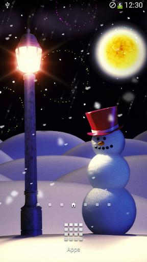 聖誕夜煙火動態壁紙