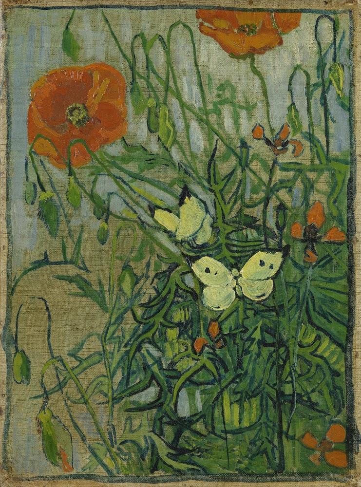 Vincent van Gogh, Borboletas e Papoulas, 1889.