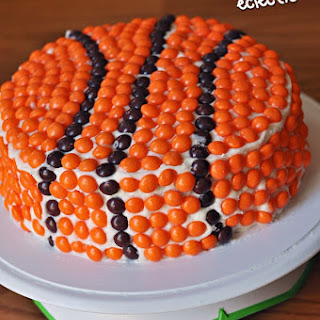 Skittles Basketball Cake.