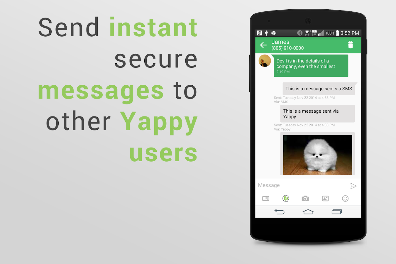 Yappy SMS Text Messaging ↔ PC - screenshot