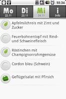 Screenshot of Mensa Bayreuth