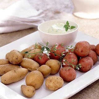 Potatoes with Mint Mayonnaise.