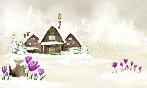 冬季雪景拼圖