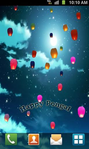 【免費個人化App】Pongal Night Live Wallpaper-APP點子
