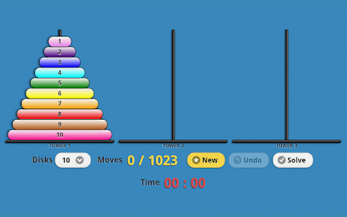 Tower of Hanoi Pro Drag-n-Drop - screenshot thumbnail