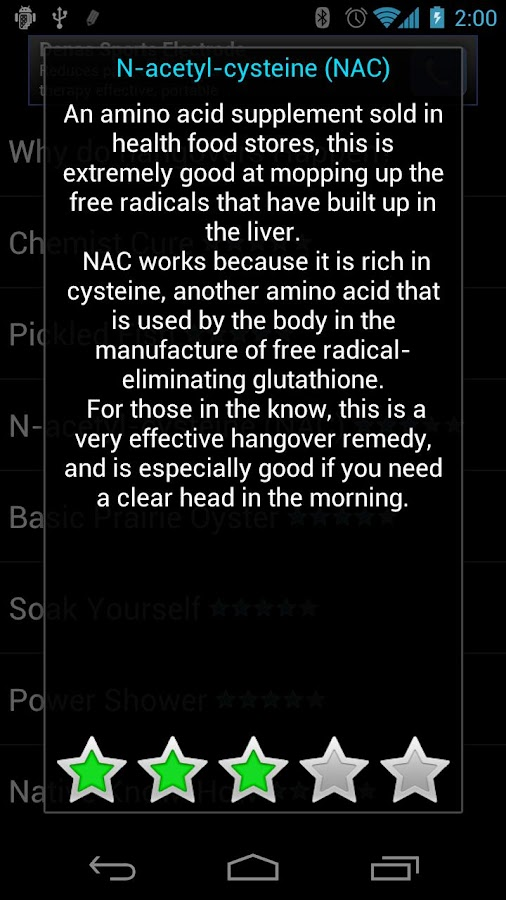 Hangover Cures- screenshot