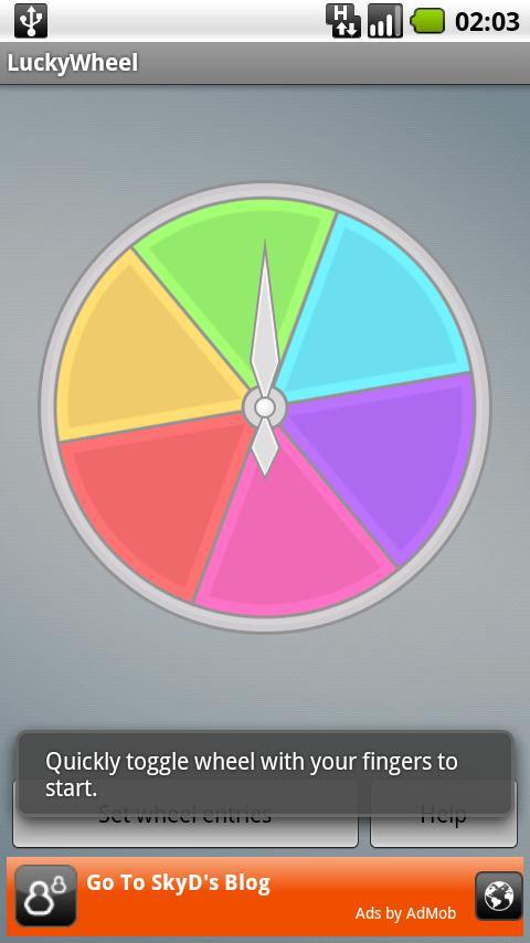LuckyWheel- screenshot