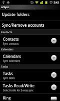 Screenshot of LVSync for Zimbra ~rw