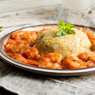 Camarofongo Recipe (Lighter, Non-Fried Garlicky Plantain and Shrimp)