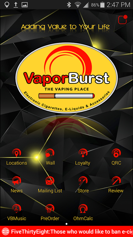 VaporBurst- screenshot