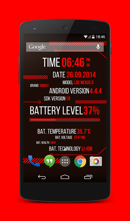 Holo Droid Free - best device info live wallpaper- screenshot