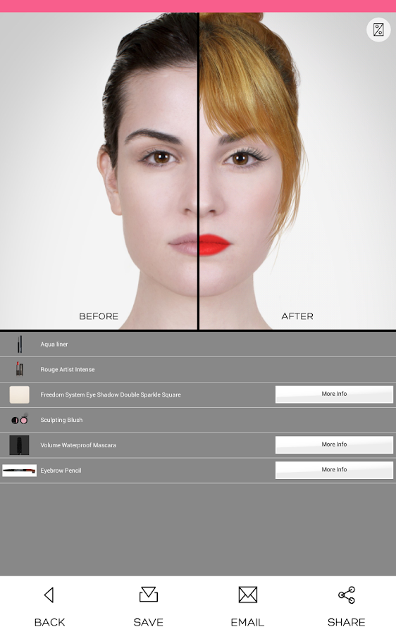 Virtual Makeover - screenshot