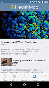 HealthMap: Outbreaks Near Me- screenshot thumbnail
