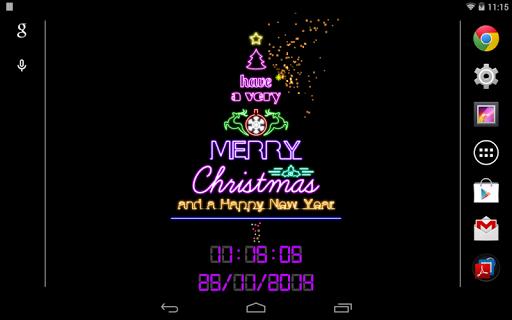 【免費個人化App】霓虹燈聖誕樹動態桌布-APP點子