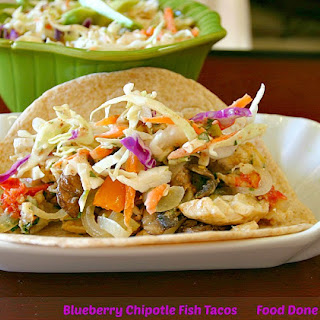 Blueberry Chipotle Fish Tacos.