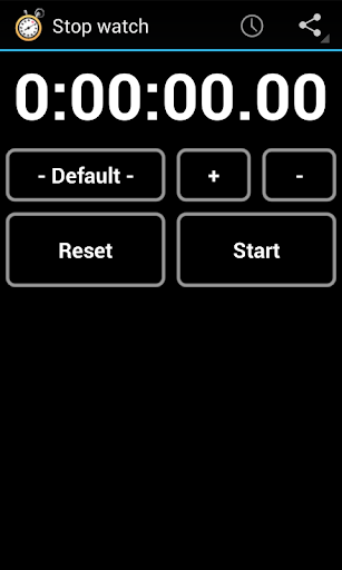 Simple Stop Watch Timer
