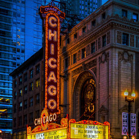 Chi Town by Jay Anderson - City,  Street & Park  Night ( theatre, theater, chicago )