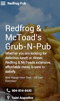Screenshot of Redfrog & McToad's Grub-n-Pub