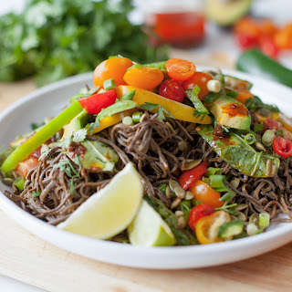 Black Bean Pasta with Chili Lime Vinaigrette