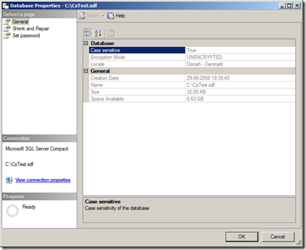 Everything SQL Server Compact: Working with Case Sensitive