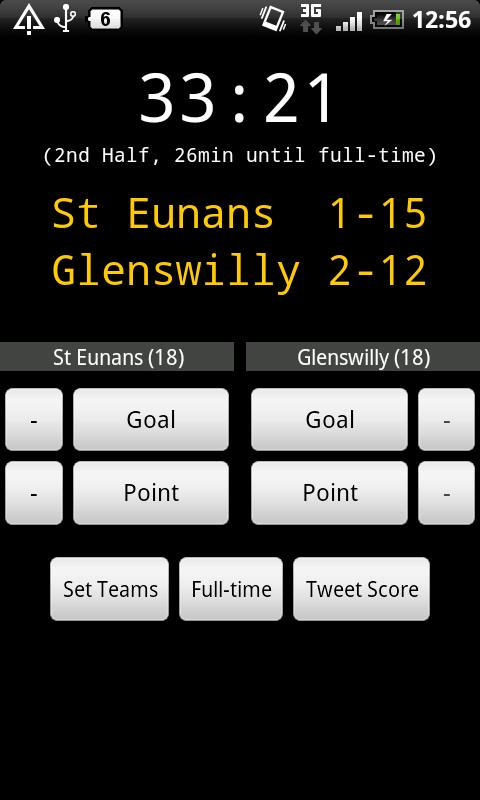 GAA Scoreboard Lite - screenshot