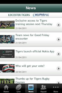 Official Leicester Tigers- screenshot thumbnail
