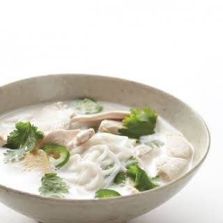 Gluten-Free Coconut-Lime Chicken Noodle Soup.