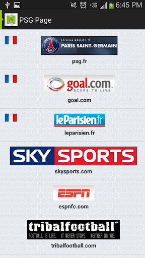 Paris Saint Germain Page