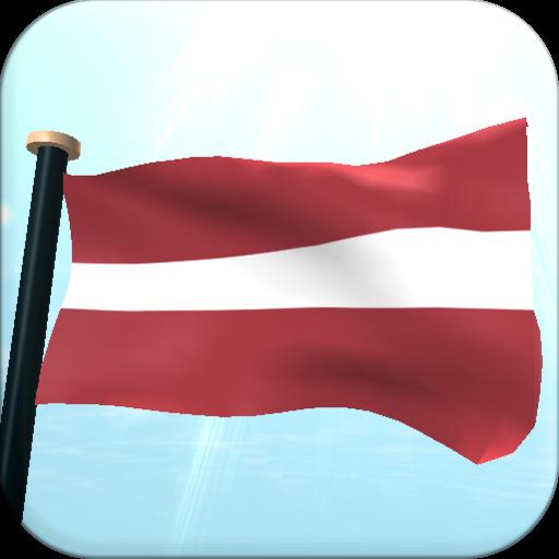 Latvia Flag 3D Free Wallpaper
