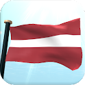 Latvia Flag 3D Free Wallpaper icon