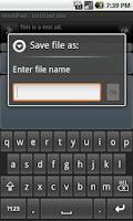 Screenshot of Hindi Notepad