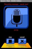Screenshot of speak2mail - BASIC Edition