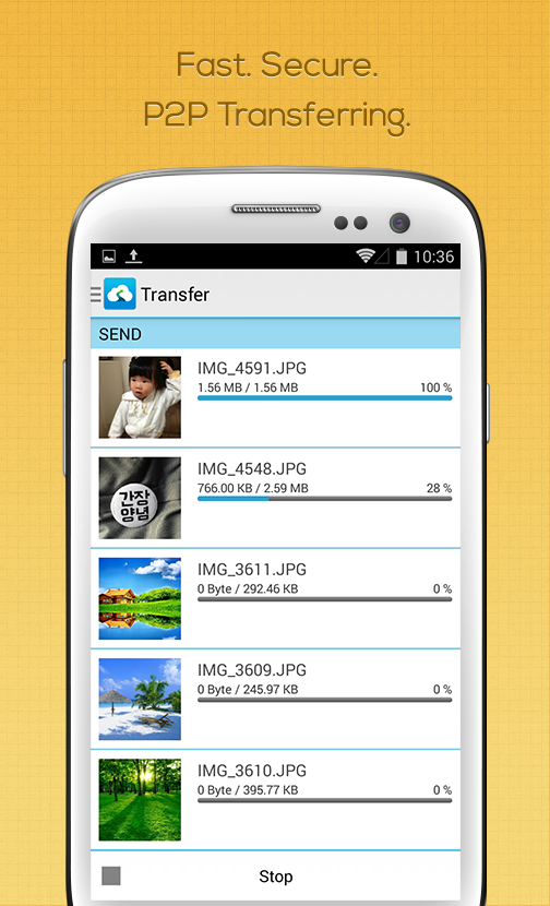 Send anywhere file transfer screenshot