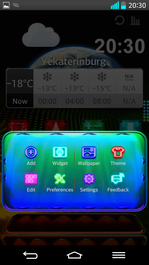 Next Launcher Theme LightingM- screenshot