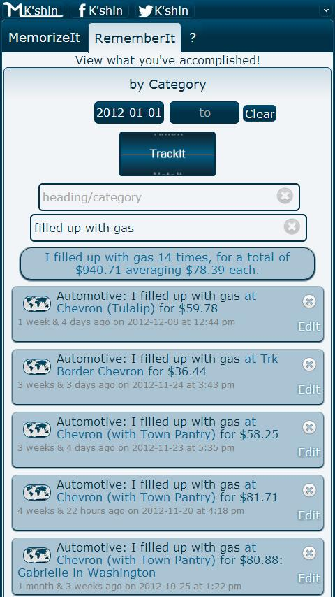 MemorizeIt! TrackIt Time Note - screenshot
