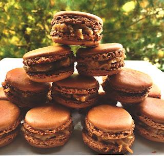 German Chocolate Cake Macarons
