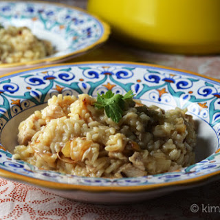 Turkey and Caramelized Onion Risotto #SundaySupper.